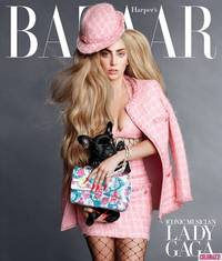 Lady Gaga Covers Harper's Bazaar, Gushes About Her Dog With Karl Lagerfeld